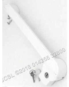 White Handle / Lock 390mm Hole Centre 270mm - Elcold EL71SS EL45 EL51LT EL71 EL61 LHF540SS EL53 EL35 Chest Freezer