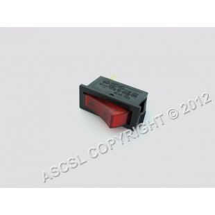 Rocker Switch - King Edward Classic 25 CL/COM Oven OLD STYLE - 3 TERMINALS ON BACK - SR-32