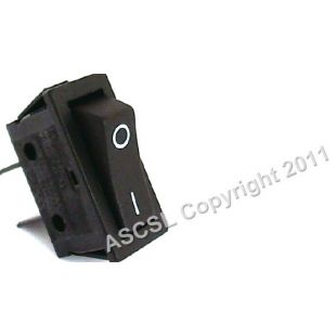 On/Off Rocker Switch - King Edward CL/COM PB 1FV - NEW STYLE - 2 TERMINALS ON BACK