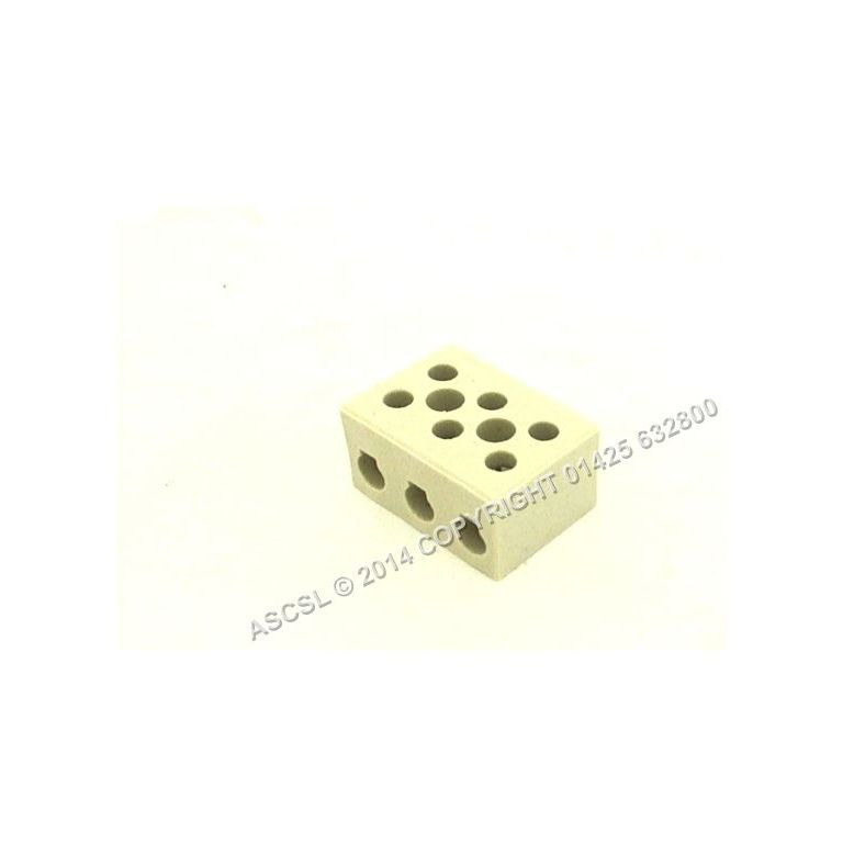 30amp Porcelain 3 way Connector for max 6 mm cable operating temperature 300C * 10 only at this price *