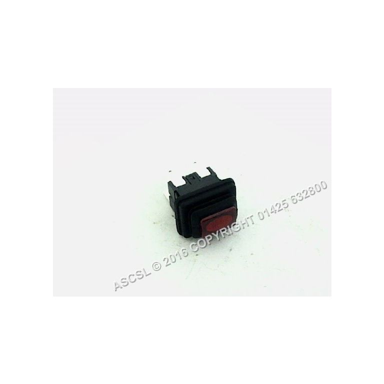 Push Type Red Switch 19mm x 13mm - Scotsman ACM176AS Ice Machine 250v 16a
