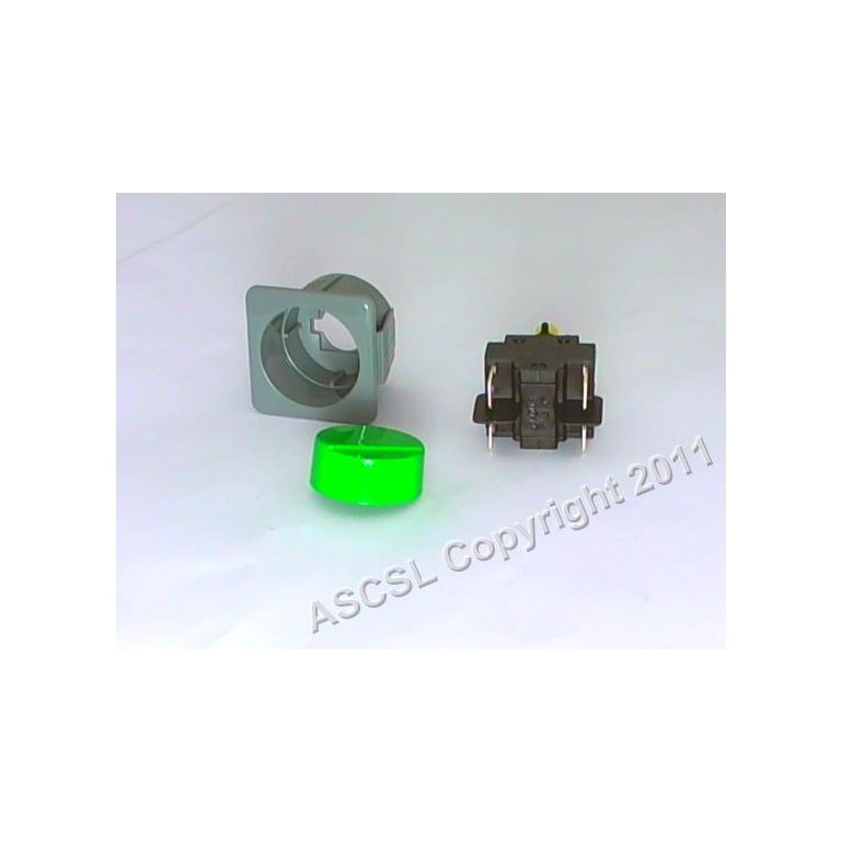2-Pole Green On/Off Switch (latching)- Lamber Newscan L25 A410 DSP5 GS25 L20 L21 Dishwasher