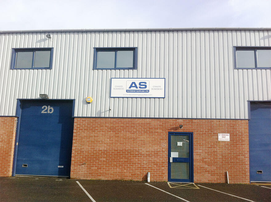 Image of the AS Catering warehouse.